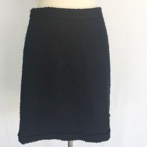J. Crew black wool pencil skirt